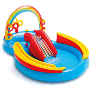 Intex Dmuchany basen Rainbow Ring Play Center, 297x193x135 cm, 57453NP