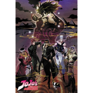 Plakat, Obraz Jojo's Bizarre Adventure - Group, (61 x 91,5 cm)
