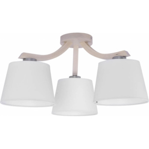 TK Lighting Lampa Sufitowa Mika White 3pł