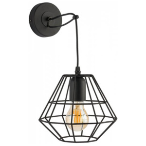 TK Lighting Kinkiet Diamond Black