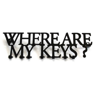 Wieszak na klucze WHEARE ARE MY KEYS