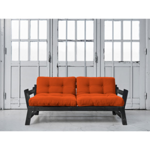 Sofa rozkładana Step Black Orange