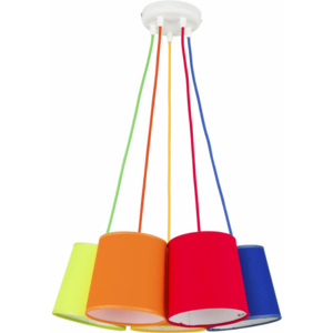 TK Lighting Lampa Wisząca Artos Colour 5pł